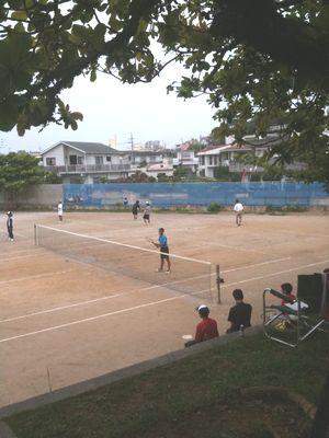 軟式テニス練習の様子