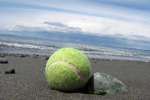 砂と公式テニス
