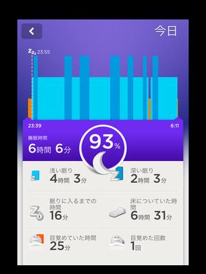 UP10/19の睡眠記録