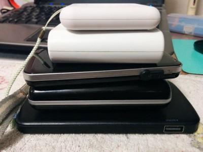 モバイルバッテリー5台体制