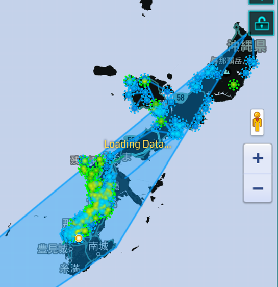 本島を覆うCF