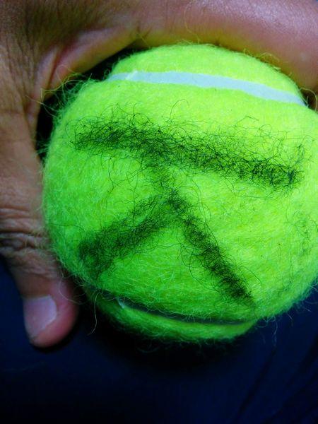ボールにサイン