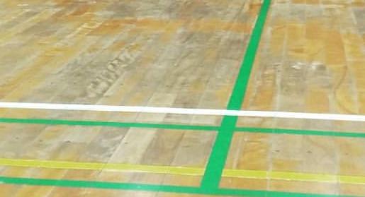 ラインが見える体育館